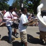 Progeny from Shaw High School marched with the Dream On Kids