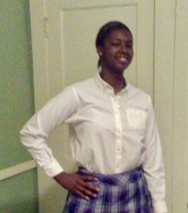 Jalia Gaston is happy at VASJ High School